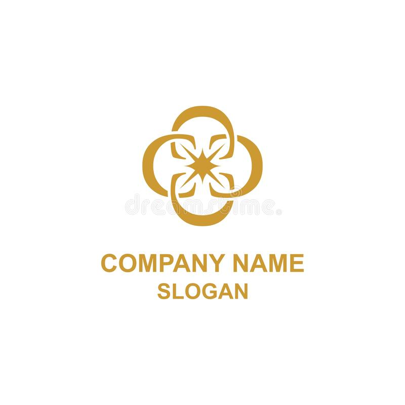 Элегантный логотип инициала орнамента письма c иллюстрация вектора