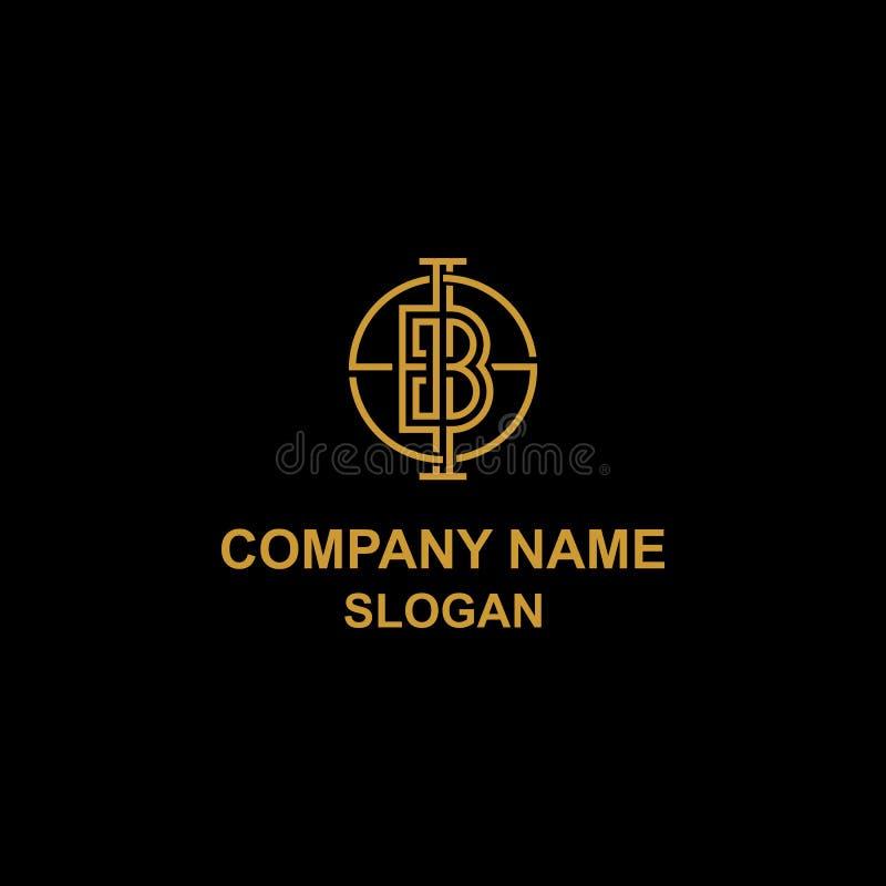 Элегантный логотип инициала письма b бесплатная иллюстрация