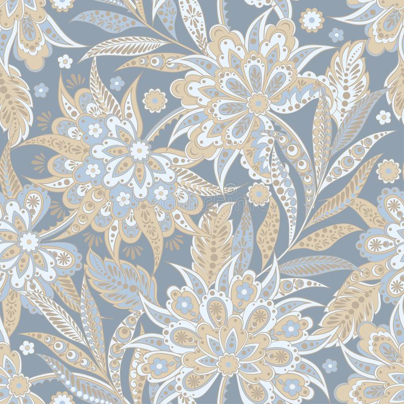 Элегантный рисунок с цветами на этнической почве Vintage Vector Floral Illustration бесплатная иллюстрация