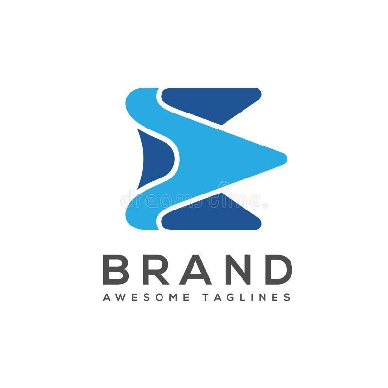 Элегантный самый лучший творческий логотип письма e иллюстрация вектора