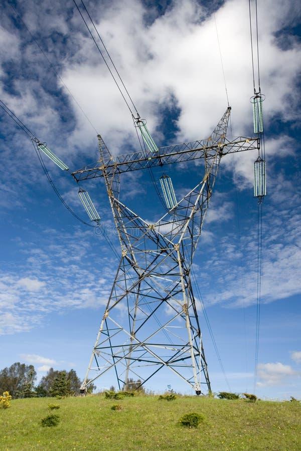 электрическая башня опоры стоковое изображение rf