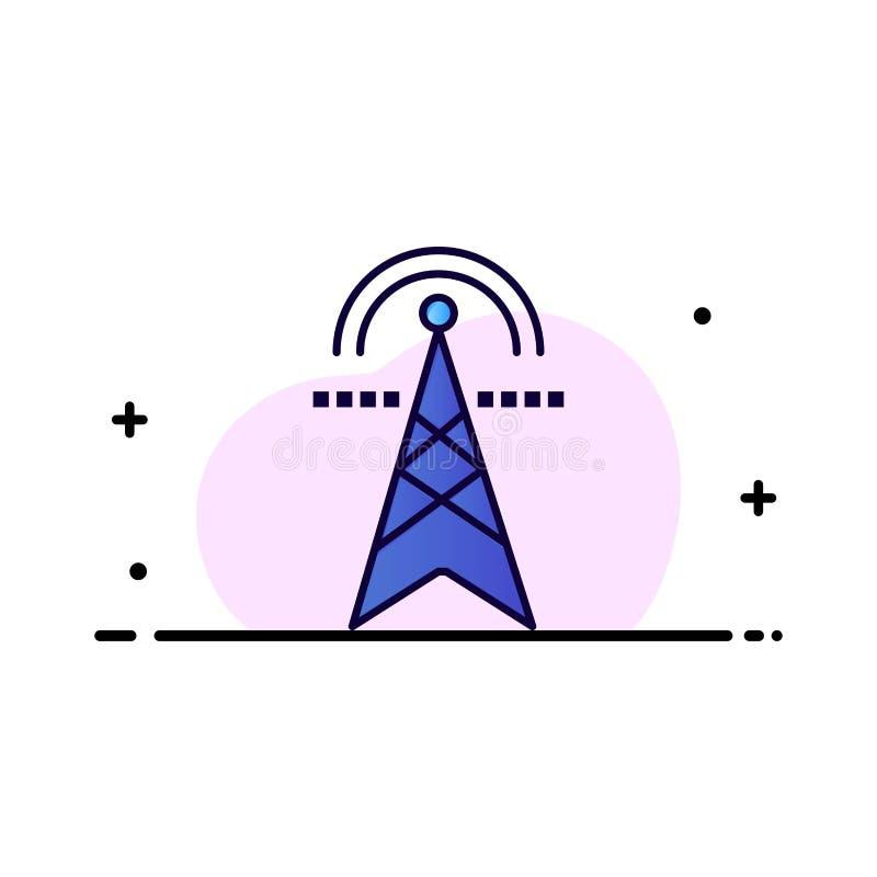 Электрическая башня, электричество, сила, башня, вычисляя шаблон логотипа дела r иллюстрация штока