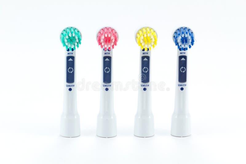 электрическая головная зубная щетка стоковое изображение rf