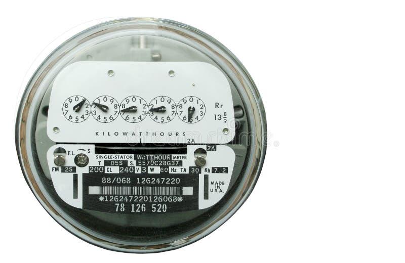 электрическая домашняя сила метра стоковое изображение rf