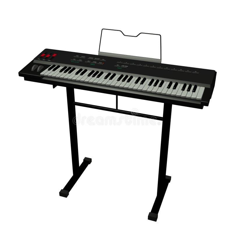электрическая клавиатура иллюстрация штока