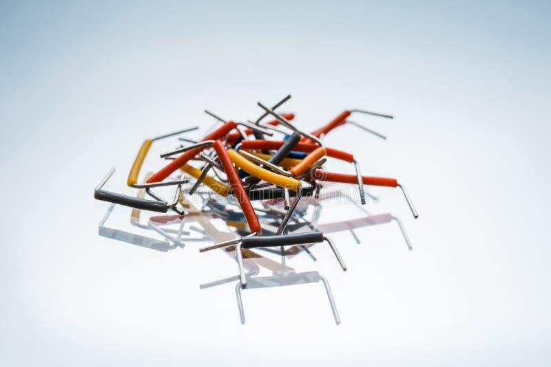 Электрическая конфигурация цепи набора шлямбура стоковая фотография rf