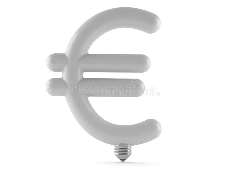 Электрическая лампочка евро иллюстрация штока