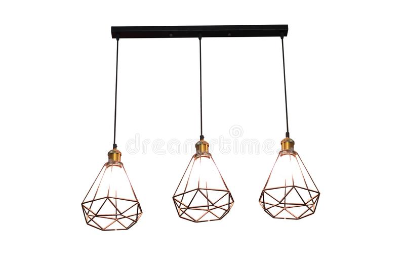 Электрическая лампочка и лампа edison в современном стиле Теплая лампа электрической лампочки тона Лампочка edison в интерьере стоковые изображения