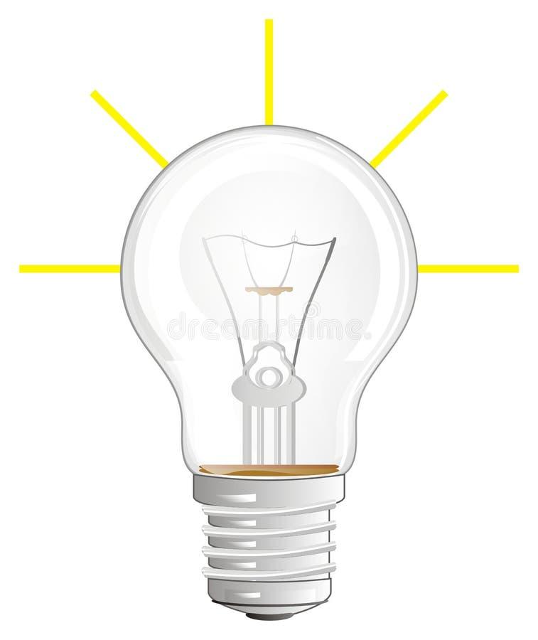 Электрическая лампочка и линии иллюстрация вектора