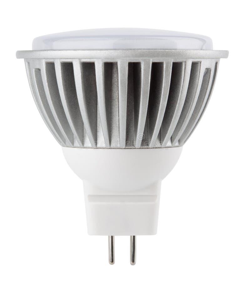 Электрическая лампочка СИД изолированная на белизне стоковые изображения rf