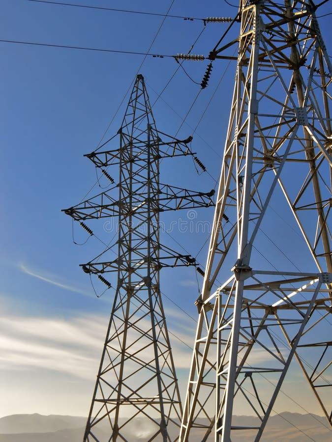 электрическая линия сила стоковая фотография