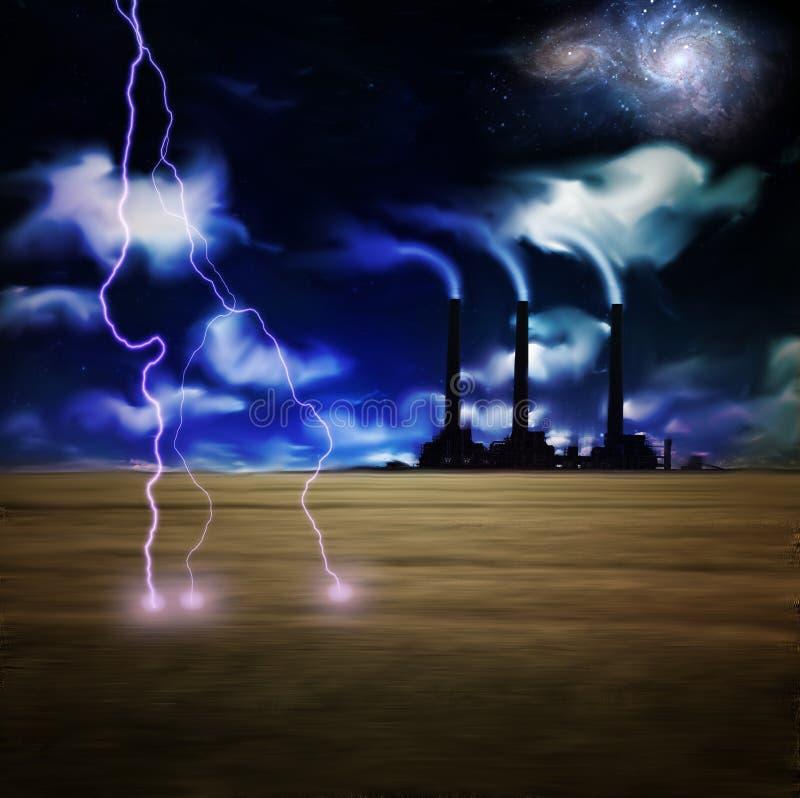 электрическая ноча бесплатная иллюстрация