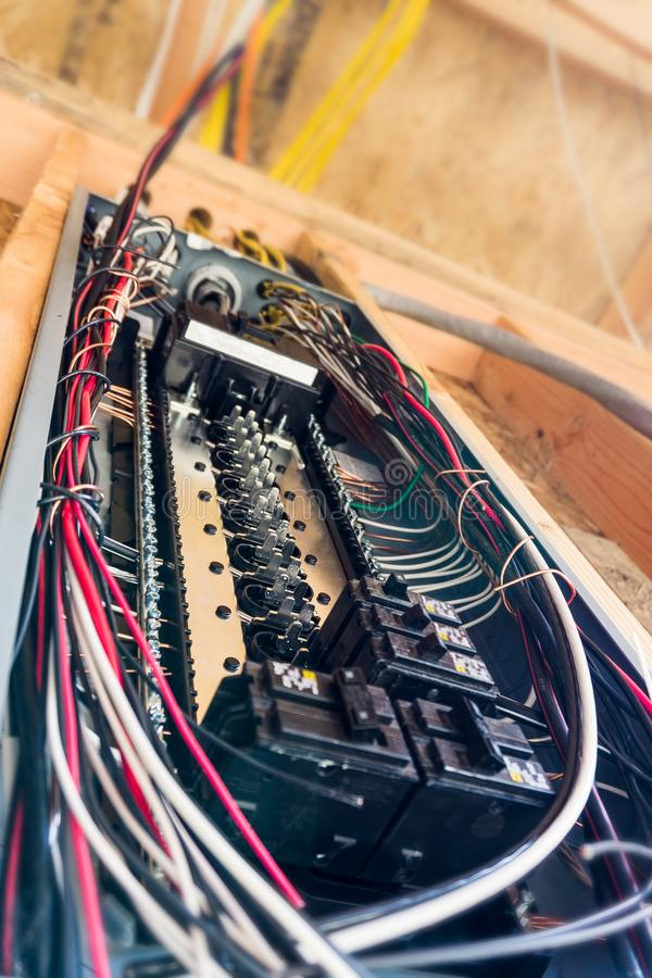электрическая панель стоковая фотография rf