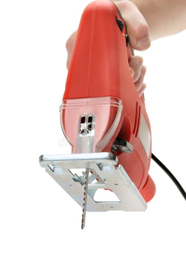 электрическая пилка для ажурных работ стоковые фото