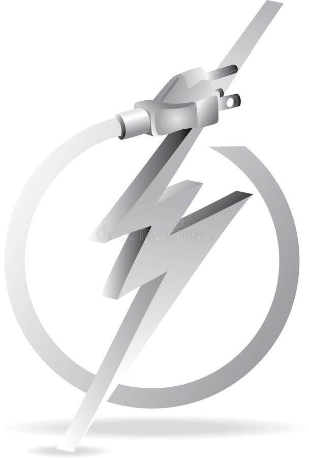 электрическая серая штепсельная вилка иллюстрация штока