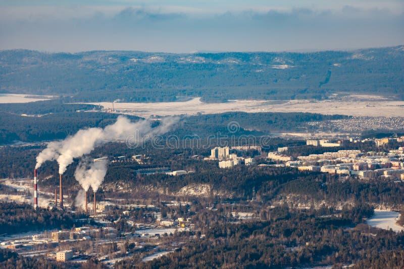 Электрическая станция тепловой мощности в Урал стоковая фотография rf