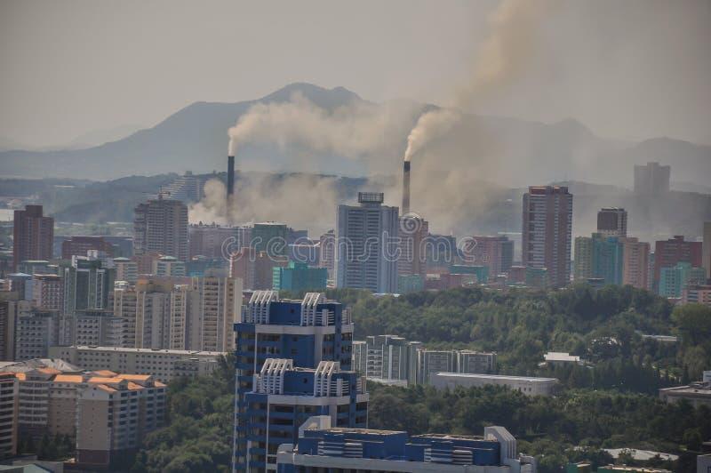 Электрическая станция угольной электростанции в Пхеньяне Корейской Северной Корее стоковое фото