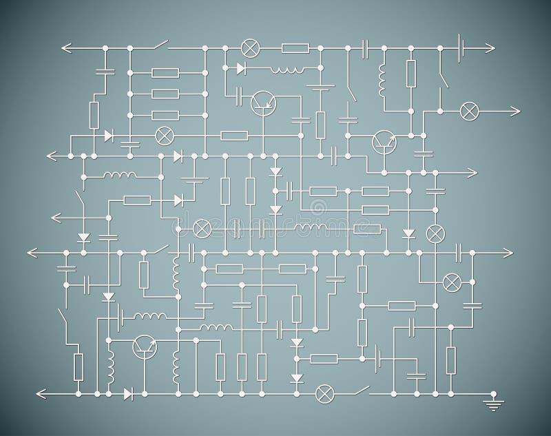 электрическая схема иллюстрация вектора