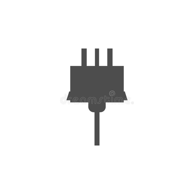 электрическая штепсельная вилка иконы Элементы значка сети Наградной качественный значок графического дизайна Знаки и значок для  бесплатная иллюстрация