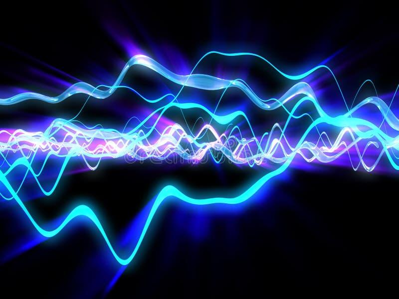 Электрические волны иллюстрация вектора