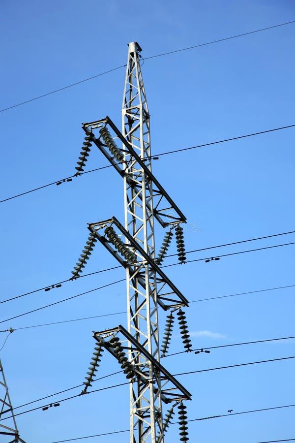 электрические высоковольтные проводы стоковое изображение rf