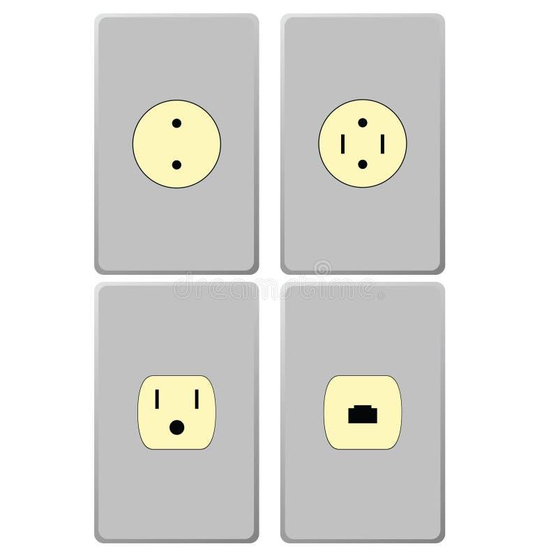 электрические гнезда бесплатная иллюстрация