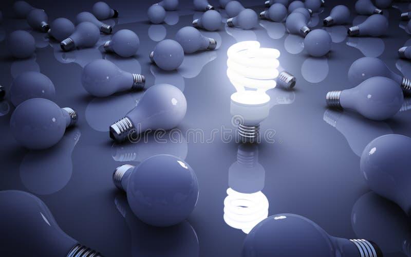 Электрические лампочки иллюстрация штока