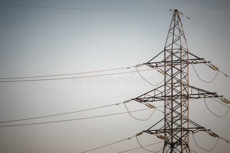 Электрические подстанция и компоненты стоковые фото