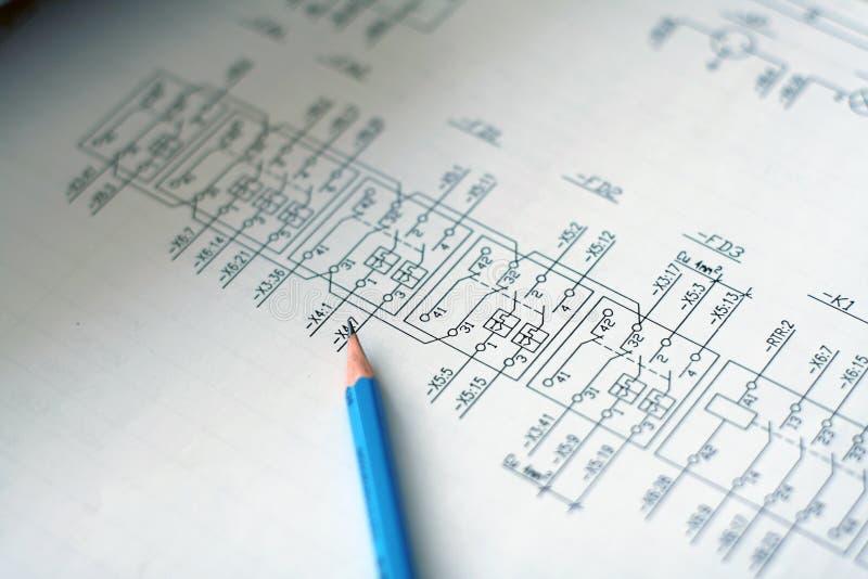 электрические схемы стоковое изображение rf