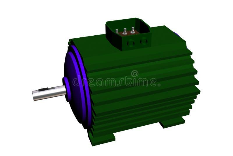 Электрический двигатель на белой предпосылке. стоковые фотографии rf