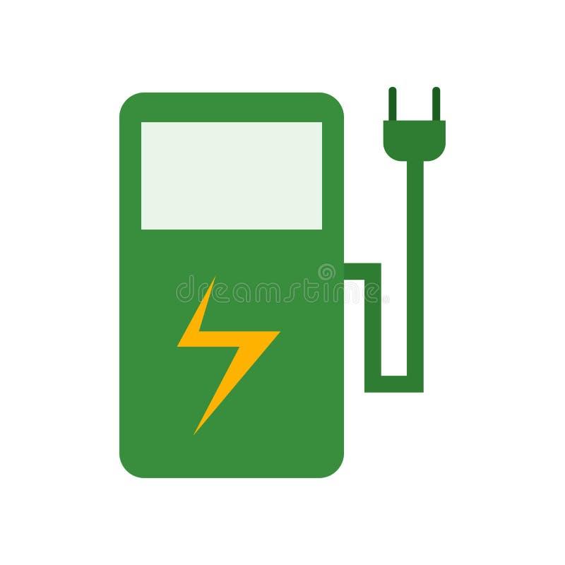Электрический знак и символ вектора значка станции изолированные на белой предпосылке, электрической концепции логотипа станции бесплатная иллюстрация