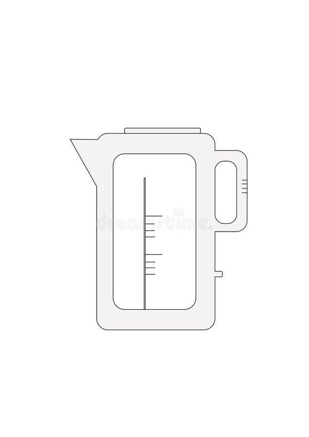 Электрический значок вектора чайника стоковая фотография rf