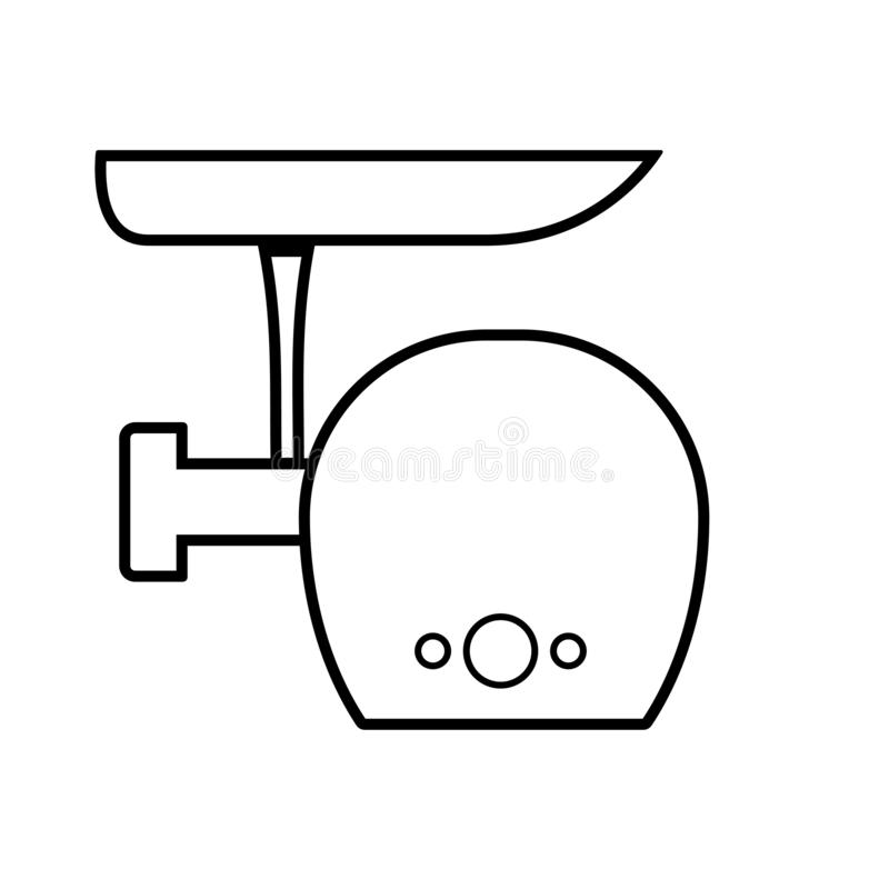 Электрический значок плана мясорубки иллюстрация вектора