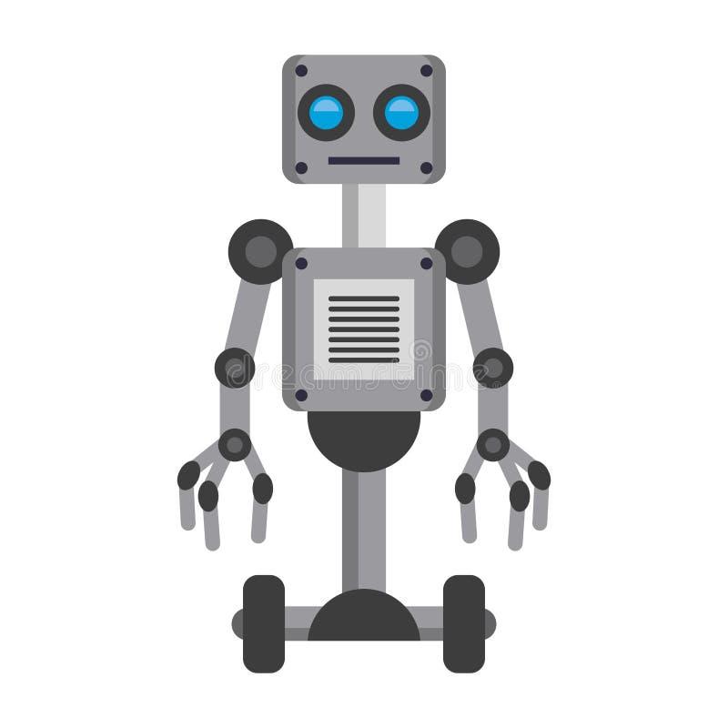 Электрический мультфильм значка робота изолировал иллюстрация вектора