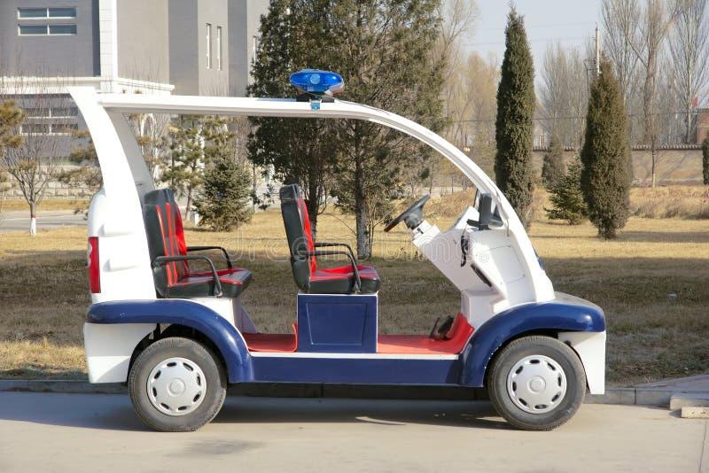 Электрический полицейский автомобиль стоковое изображение rf
