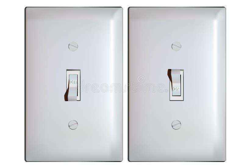 электрический свет с переключателя положений бесплатная иллюстрация