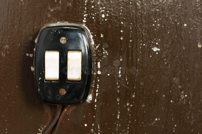 электрический старый переключатель стоковые фото