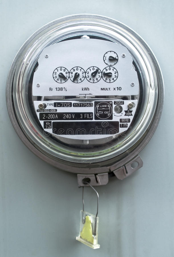 электрический счетчик стоковая фотография rf