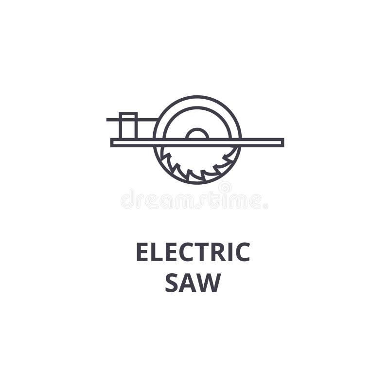 Электрический увидел линию значок вектора, знак, иллюстрацию на предпосылке, editable ходах иллюстрация вектора