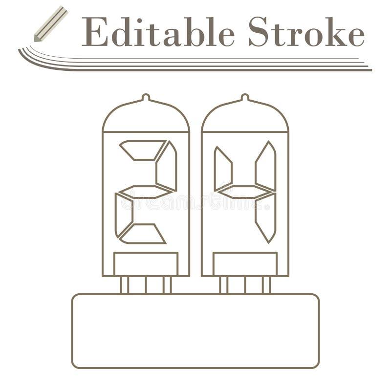 Электрический числительный значок лампы бесплатная иллюстрация