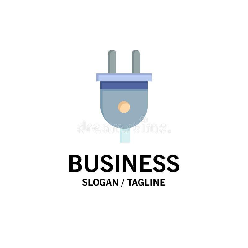 Электрический, штепсельная вилка, сила, шаблон логотипа дела штепсельной вилки r бесплатная иллюстрация