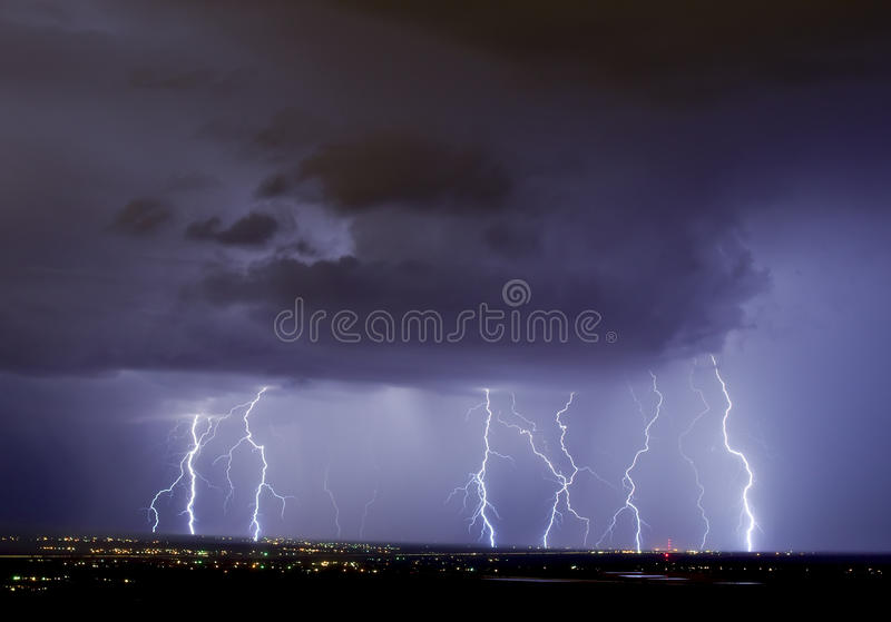 электрический шторм Стоковое Фото
