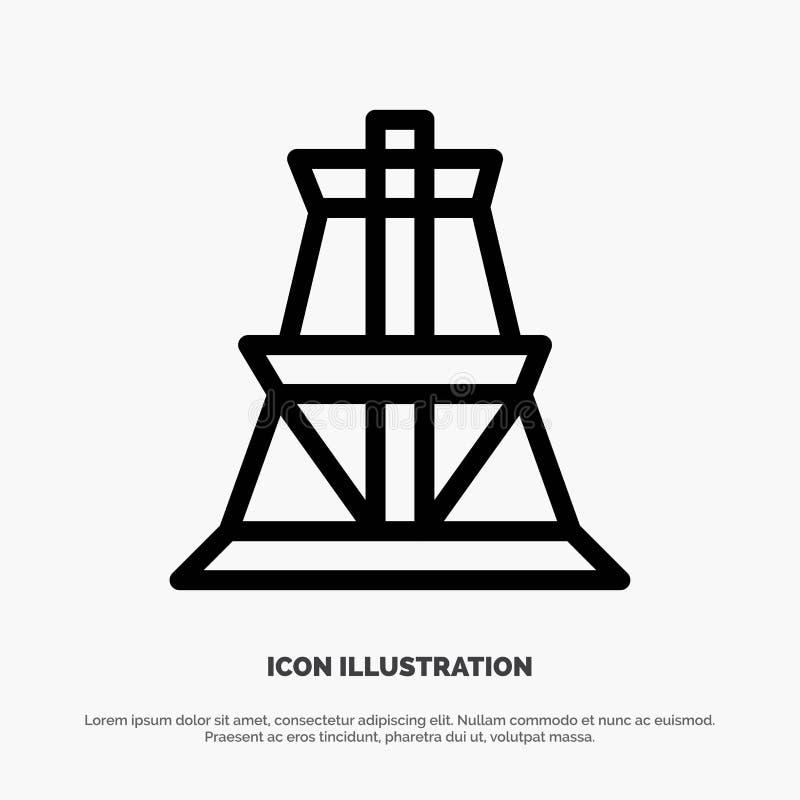 Электрический, энергия, передача, линия вектор башни передачи значка бесплатная иллюстрация