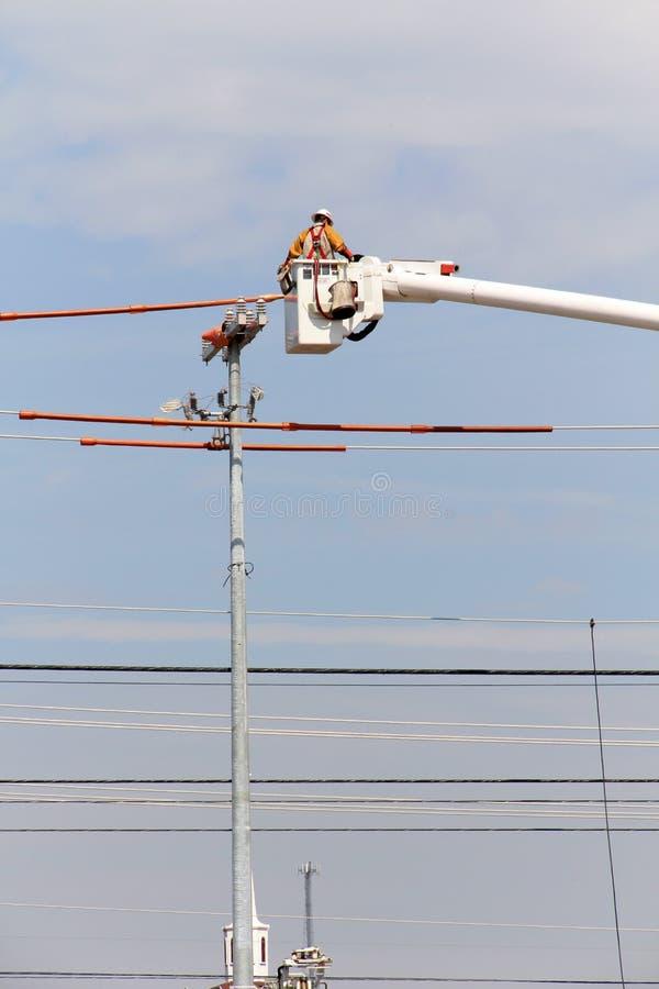 Электрический Linesman стоковые изображения rf