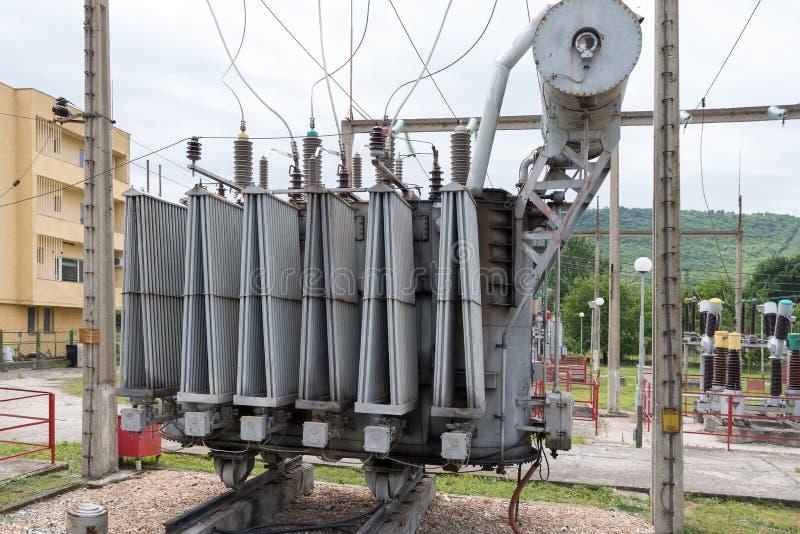 Электричество Трансформатор питания стоковые фотографии rf