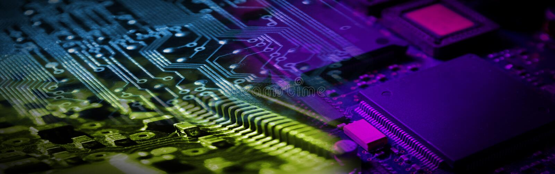 электроника знамени стоковые изображения rf