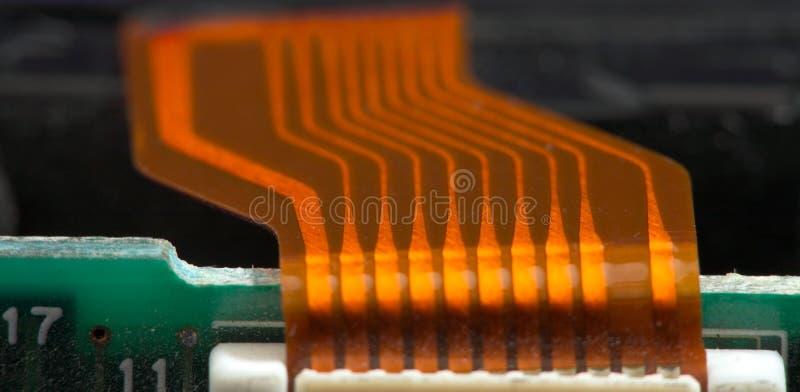 электроника кабельного соединителя стоковое изображение rf