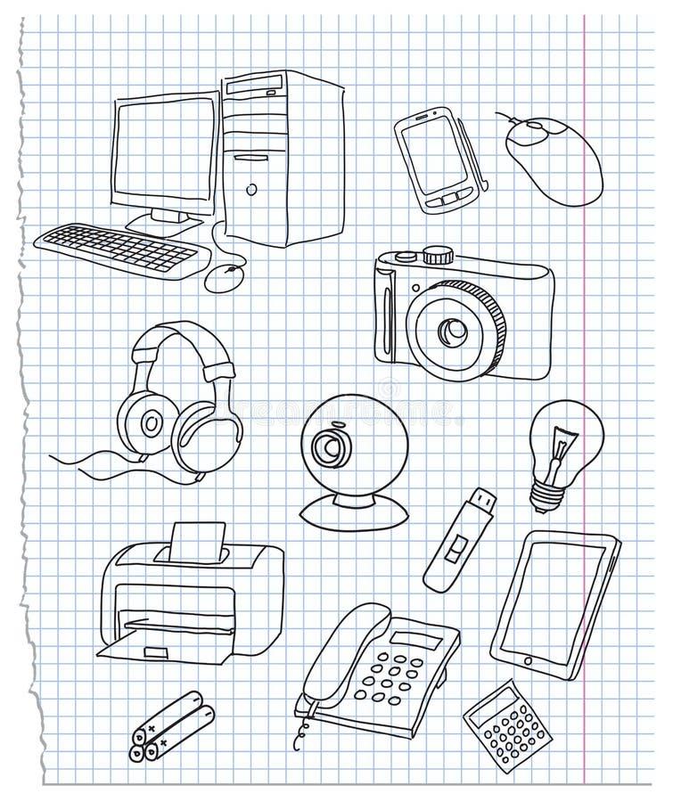 электроника иллюстрация штока