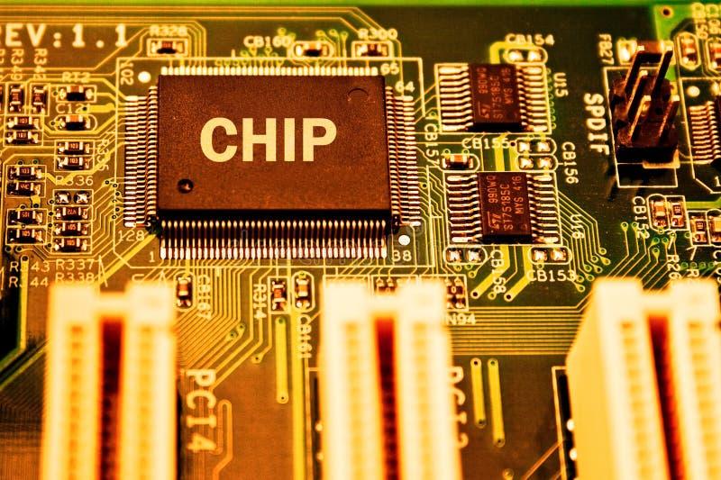 электроника C.P.U. цепи доски стоковое фото