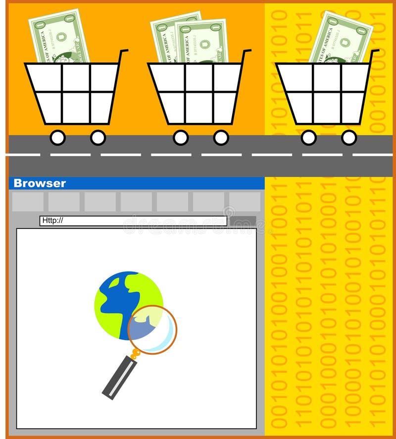 электронная коммерция бесплатная иллюстрация